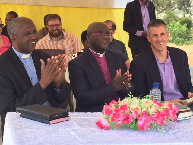 Pastor Jean Baptiste (Runda Parish), Bishop Jered Kalimbe (Shyogwe Diocese) and Rev. Ford Jordan (Redeemer)