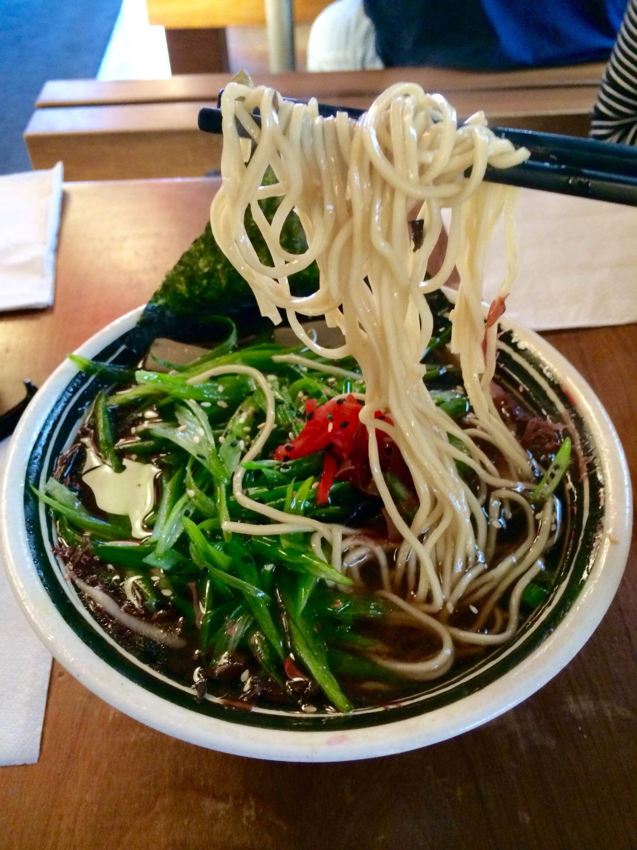 V eggie Shoyu Ramen - Tosaka, seaweed, scallion, sesame, bamboo shoot, and dikon radish