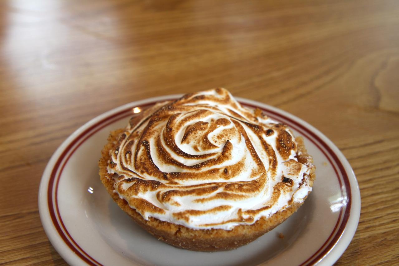 PIE OF THE DAY - meringue lemon . graham cracker crust