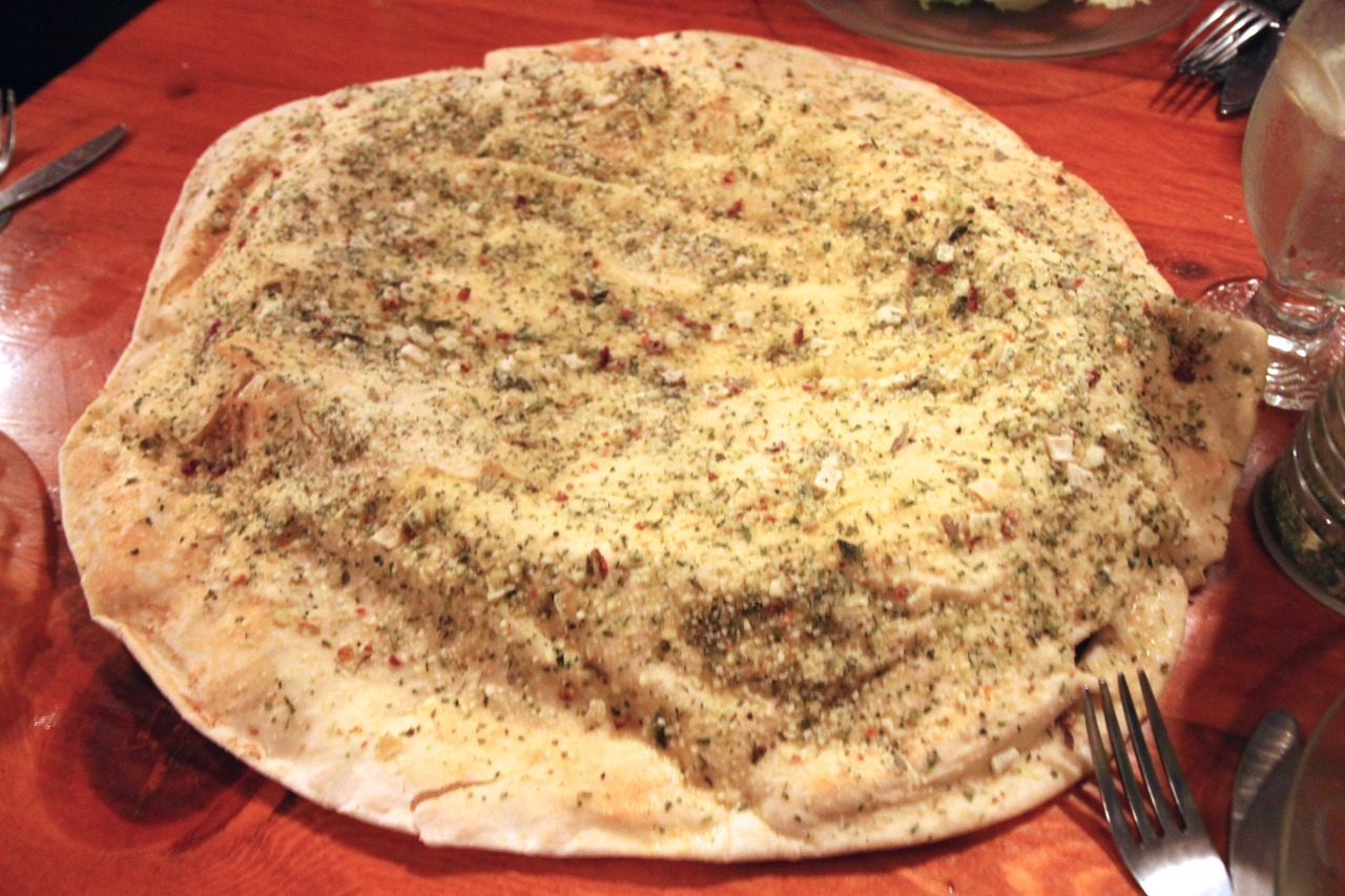 Mediterranean Bread with garlic and various herbs that make this flat bread taste fantastic