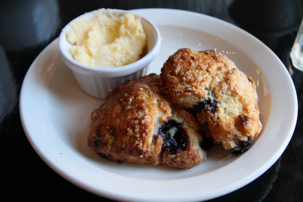 Blueberry Heart Biscuits with Lemon Butter
