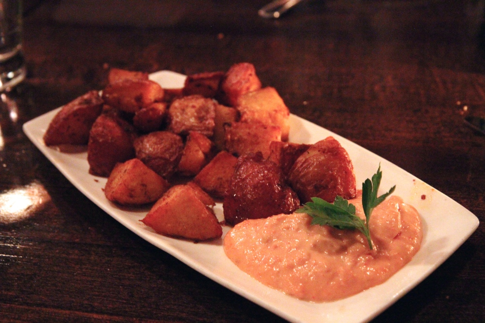 Patatas Bravas, or Spicy Potatoes with Tomato Alioli
