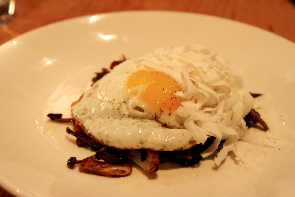 Roasted Mushrooms | Pancetta, Fried Egg, Ricotta Salata