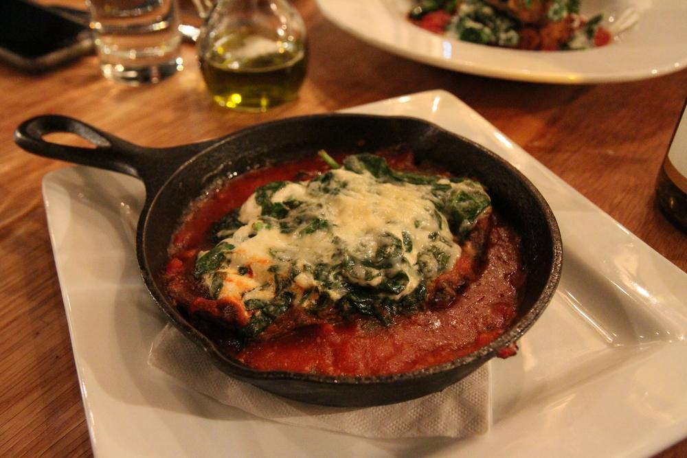 Eggplant Lasagna | Spinach, Goat, Balsamic Gastrique, Housemade Marinara