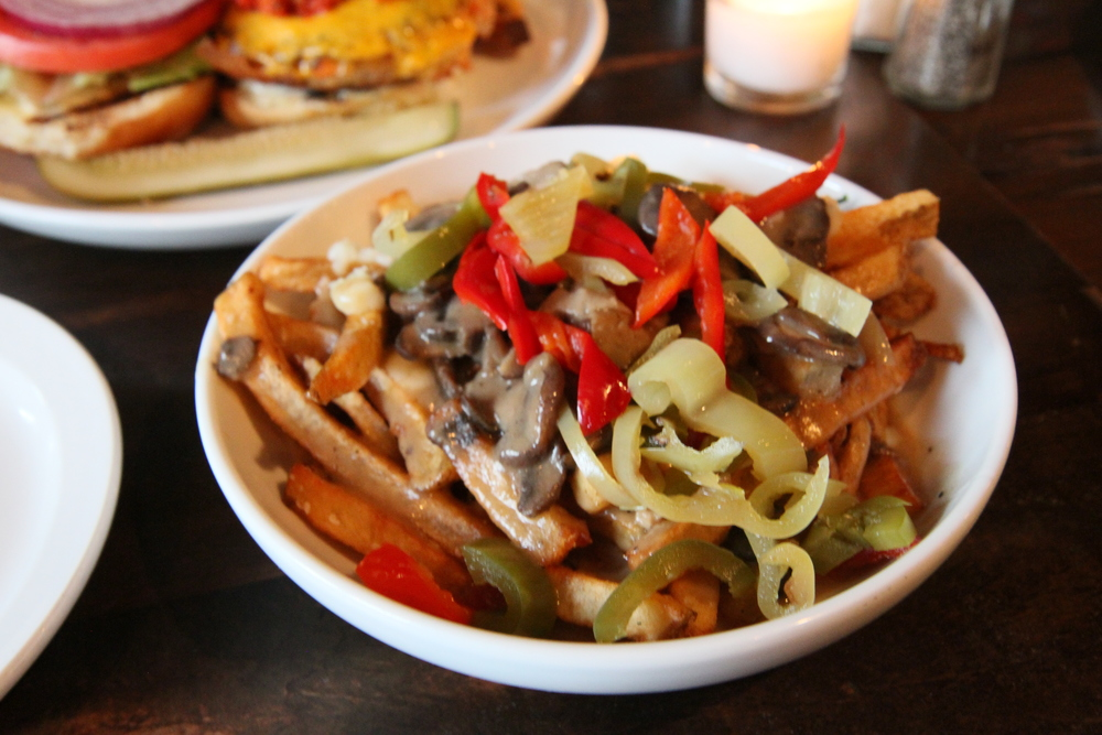 Poutine | french fries, mushroom gravy, cheese curds, pickled chiles