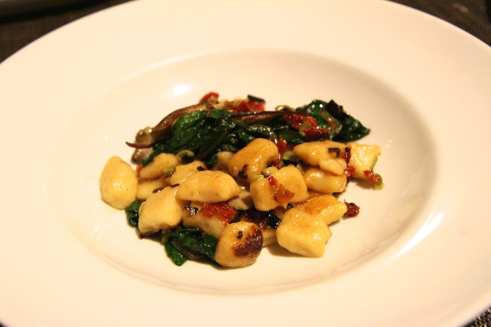 Housemade Gnocchi, roasted honeycrisp apples, baby spinach, lemon ricotta