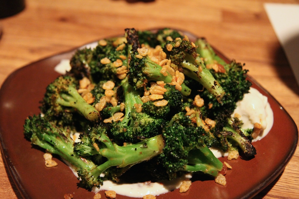 Wood Grilled Broccoli | rogue smokey bleu, spiced crispies