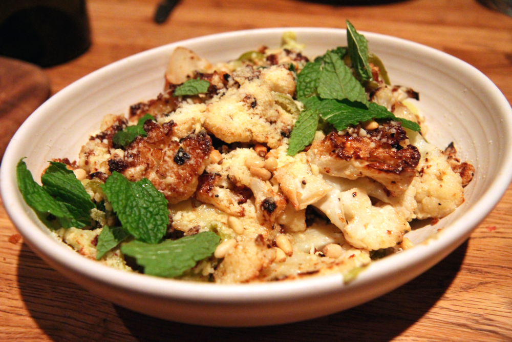 Roasted Cauliflower | pickled peppers, pine nuts, mint