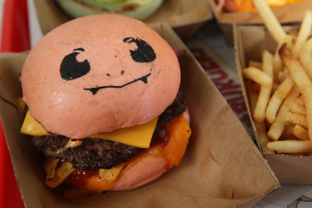 Charmander!! meat burger