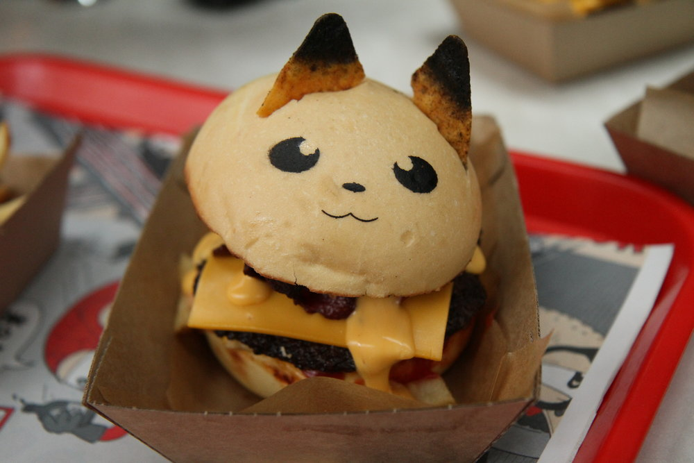 Pikachu!! meat burger