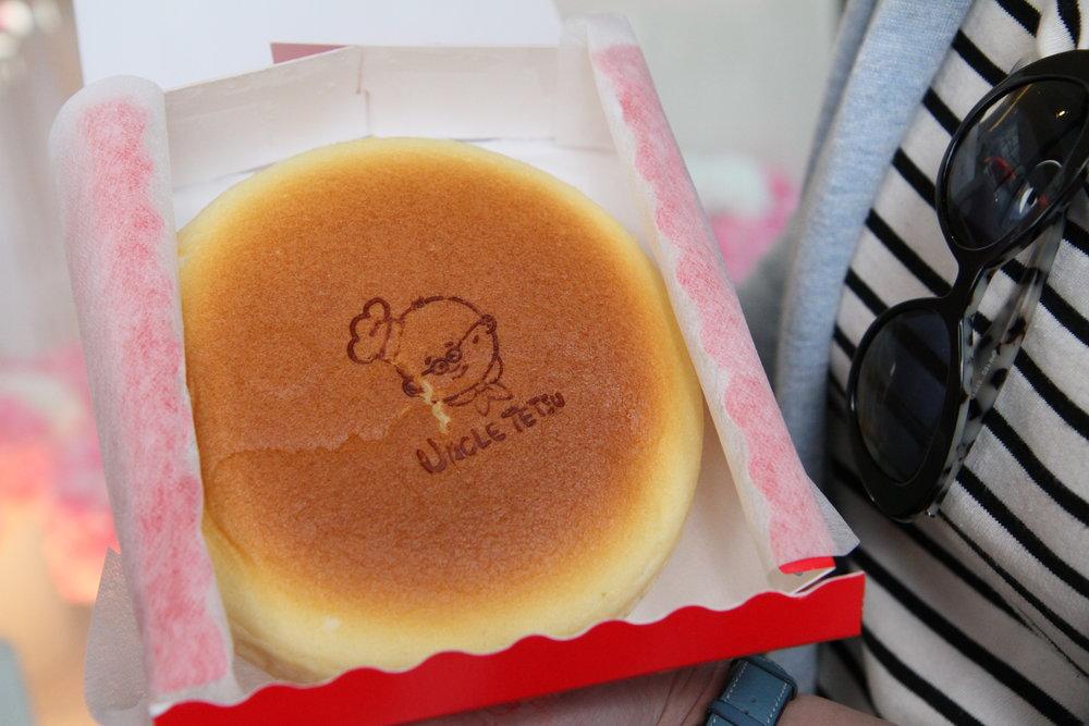 Mmmmm bouncy, spongey Uncle Tetsu cake!!!