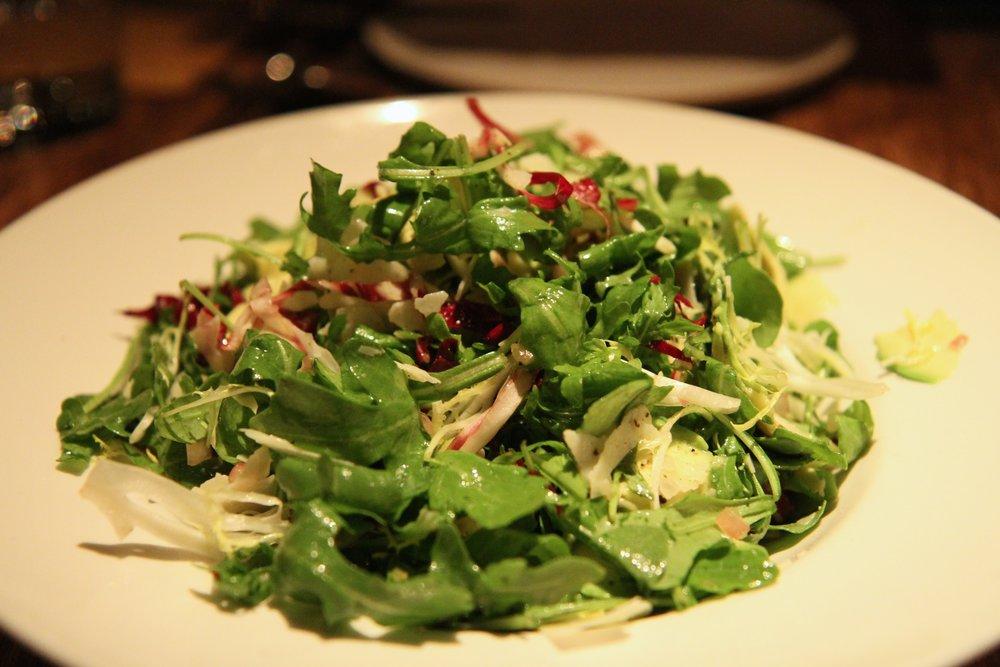 Simple Greens | lightly dressed greens, endive and preserved lemon vinegarette