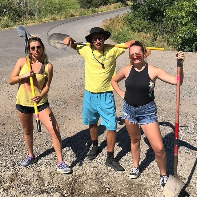 Summer of Service? More like Summer of Style! We've been working and learning with the GVLT and Four Corners Recycling, and looking pretty dang good doing it! 😊 @gvlt . . . . . . #nonprofit #montana #bozeman #local #gvlt