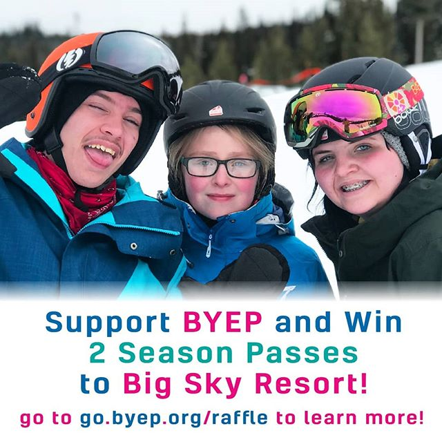 BYEP is raffling off a chance to win a pair of Gold Season Passes to Big Sky Resort! That's a $2,600 value!! Tickets are only $50! Go to go.byep.org/raffle to buy yours today! The link is in our bio too! ❄️😊❄️ . . . . . #byep #montana #local #nonprofit #bigsky