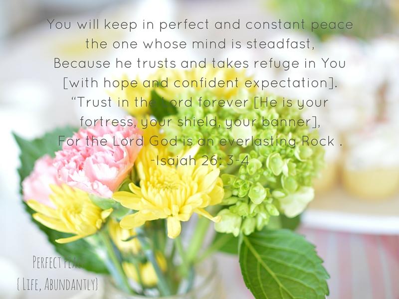 PerfectPeace | LifeAbundantlyBlog.com