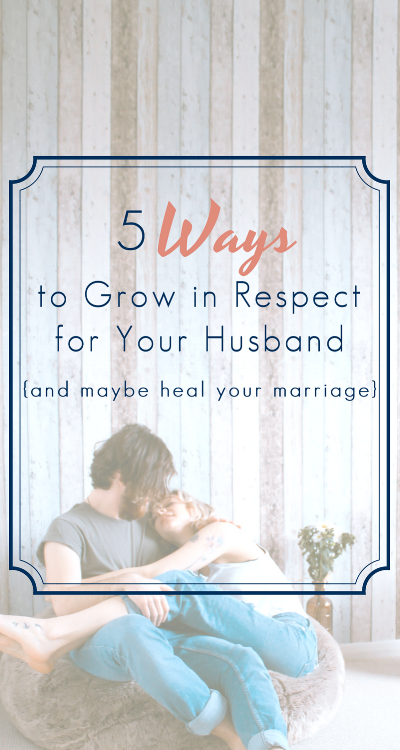 Marriage is so hard! And sometimes... so is respecting your husband. It can be a struggle if you haven't lived with a good marriage role model in your life. I definitely didn't! This was very helpful.