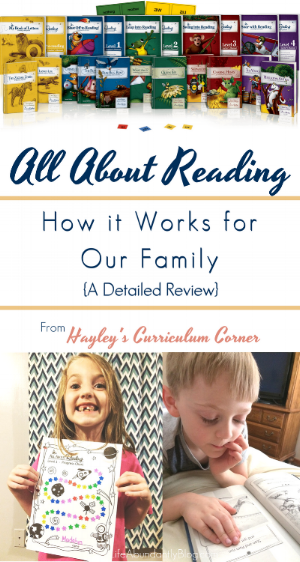 Great, DETAILED review from a homeschool mom of 4 as well as a mom with a child with dyslexia. Great information to have about All About Reading!