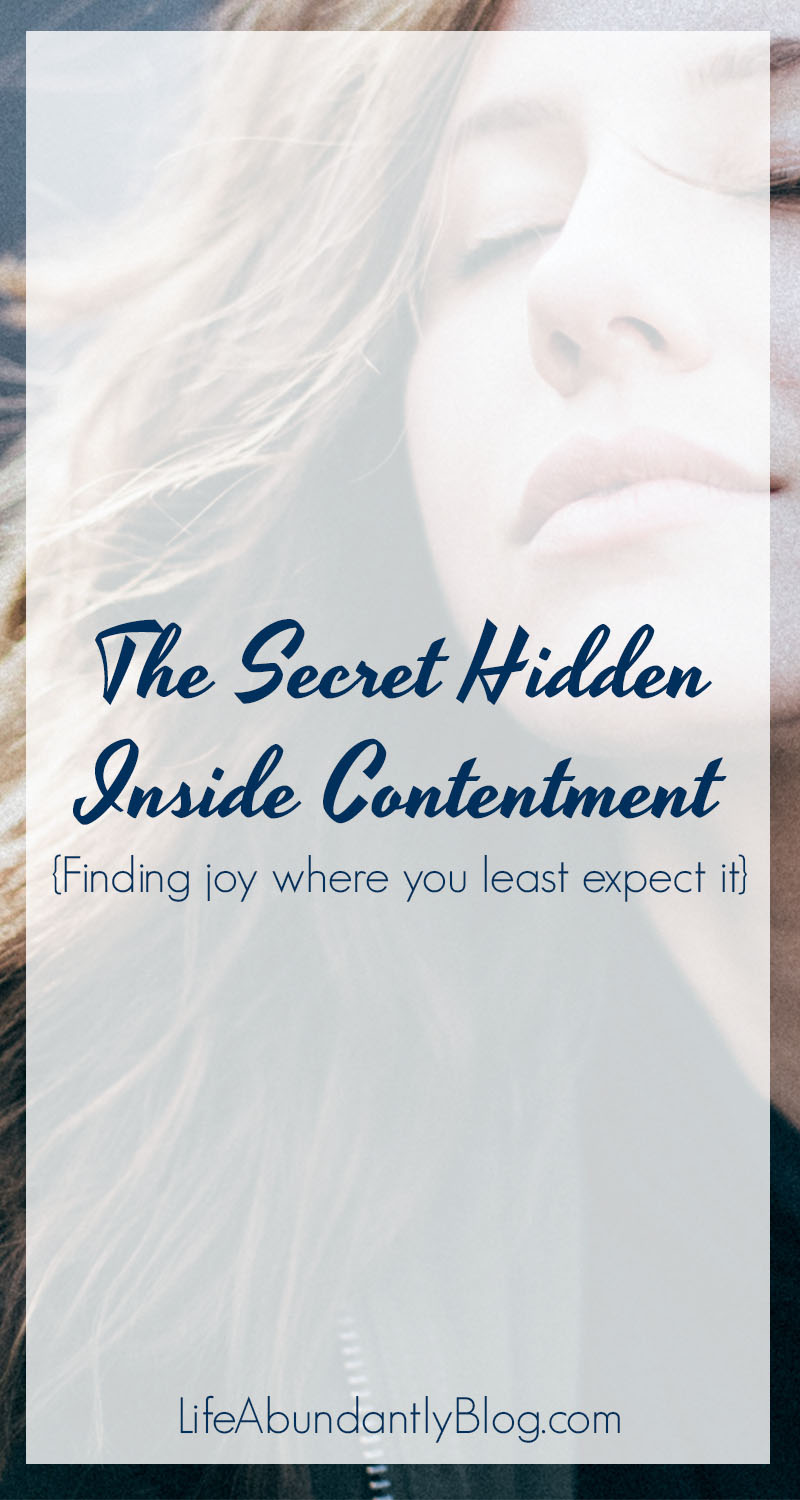 This is really good! It was so encouraging! Joy and purpose can be so hard to find... much less hold onto. Especially when things get really hard- marriage falling apart, problems at work, conflicts with friends, difficult child, loss of a loved one or financial security. HOW in the world can we be content and find JOY even in situations like that?