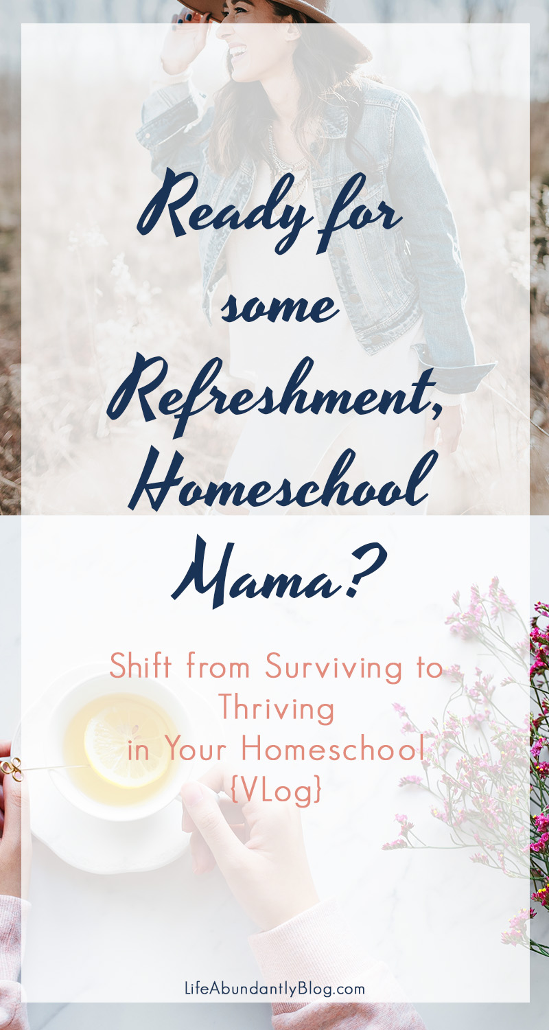 Being a homeschool mom can be really challenging! You can feel lost, frustrated, overwhelmed, confused, disorganized and in a constant battle with yourself or one of your children. But it IS possible to shift from survival mode to thriving in your days when you cast a vision for your homeschool. Come dive in for some refreshment and encouragement!