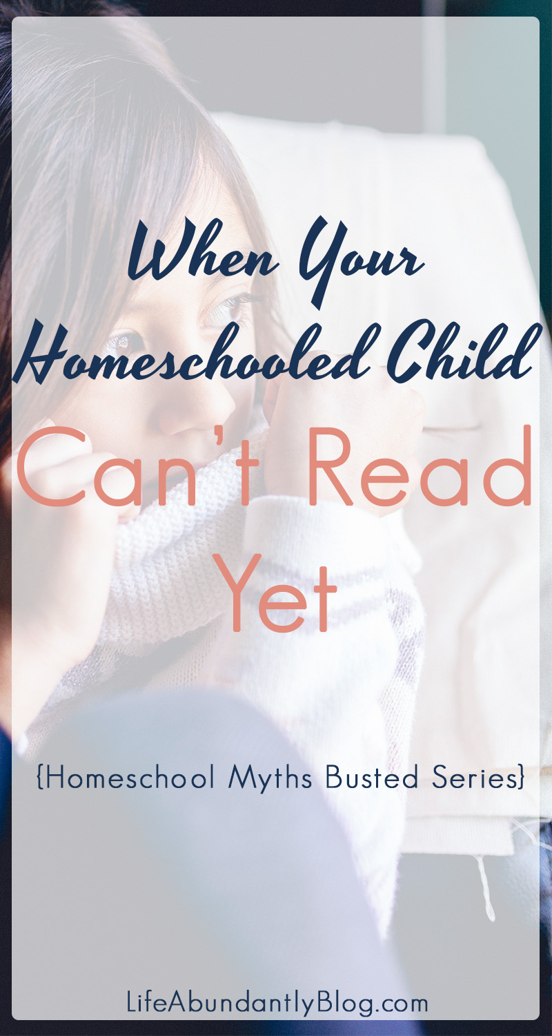Teaching our child to read can be the absolute scariest thing about homeschooling. When your homeschool child isn't reading by age 6, we can absolutely begin to freak out that we are failing them in every way possible! Come find out why it's ok that your child is a late reader and how to know when there IS a problem!
