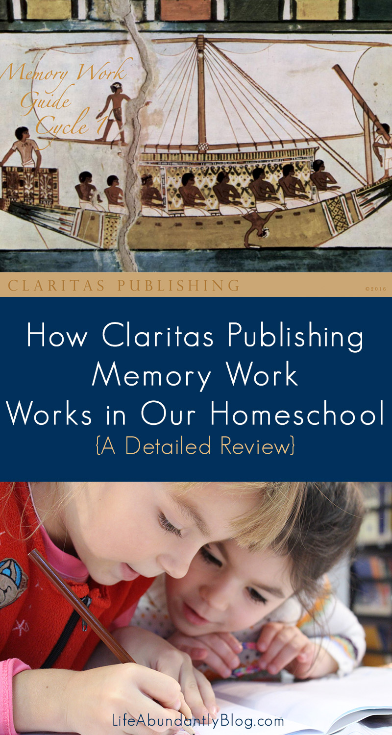 Have you been looking for a detailed review of Claritas Publishing Memory Work Program? This post will give you all the details, including pictures, from a veteran homeschool Mom of 4.