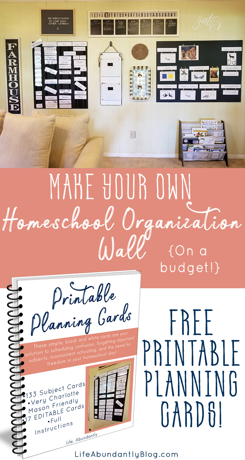 Do you need a way to make sure you keep your homeschool day organized and on track? Do you struggle with consistency in your homeschool day? Do you homeschool multiple children and need to keep everyone going at a reasonable pace? This post and FREE printable planning cards will help you keep your day on track and maintain organization in your homeschool day.