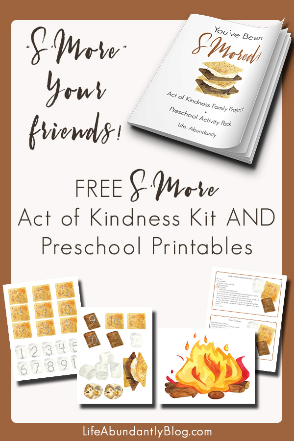 This is the CUTEST IDEA! Make s'more baskets to surprise friends or family! A letter is included along with ADORABLE S'More Printables for your preschooler or little ones. They can work on matching, math skills, and sequencing! SO CUTE!