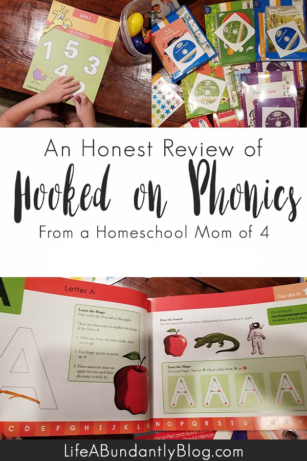 Honest Hooked on Phonics Review from a mom of 4 with 1 dyslexic student!