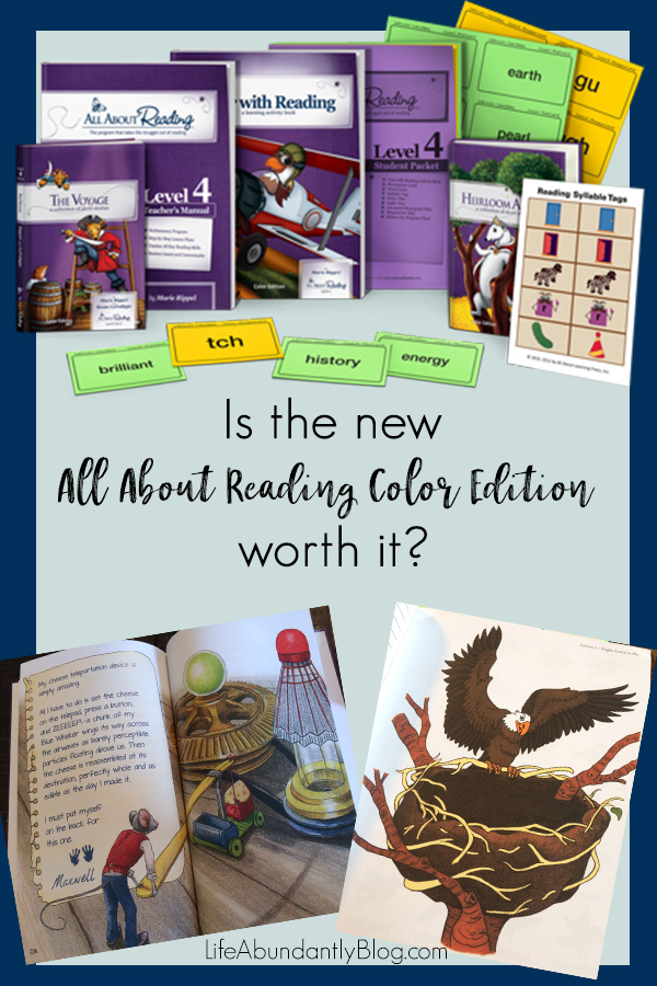 Have you been looking at the All About Reading program, wondering if it's for you? Is the new color edition worth the extra cost? Is the level 4 of the AAR program worth it? Here are all those answers and more!