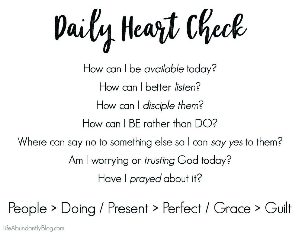 We can all suffer from tasks before people thing, especially in a crazy chaotic homeschool. If you need a daily heart check before you begin your day with young children, you'll love this free prinable.