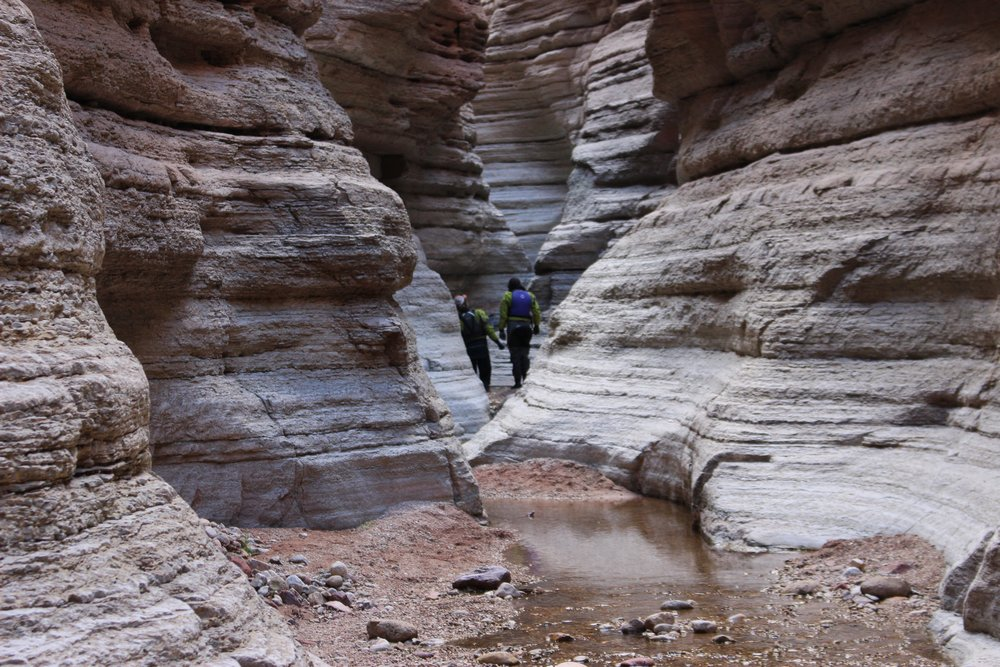 A slot canyon along the bottom of the Grand Canyon
