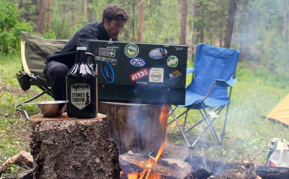 A much more realistic campsite.