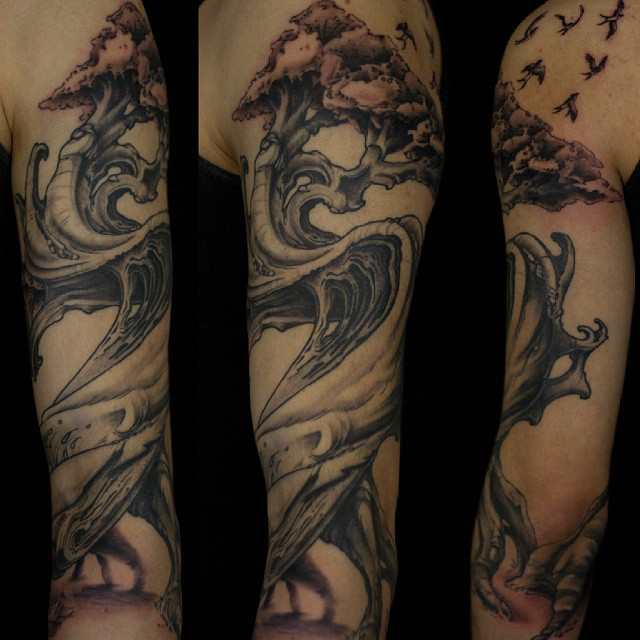 tree-sleeve-blackandgrey-Tattoo -LA-LosAngeles-besttattoo-besttattooartist-besttattooartists-top-pictures-images-photo-tat-ink-inked-seanadams-guestartist-rabblerousertattoo