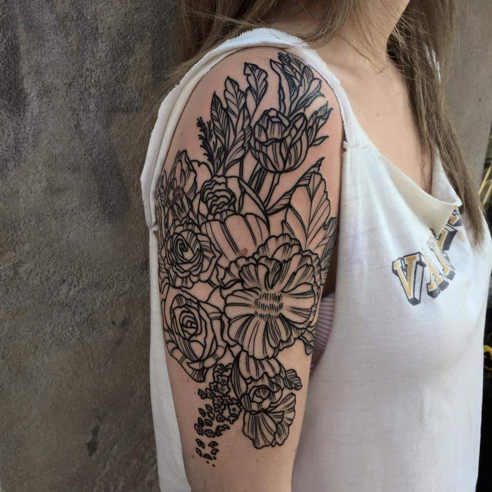 floral-halfsleeve-Tattoo-blackandgrey-linework-detail-LA-LosAngeles-besttattoo-besttattooartist-besttattooartists-top-pictures-images-photo-tat-ink-inked-tinedefiore-guestartist-rabblerousertattoo