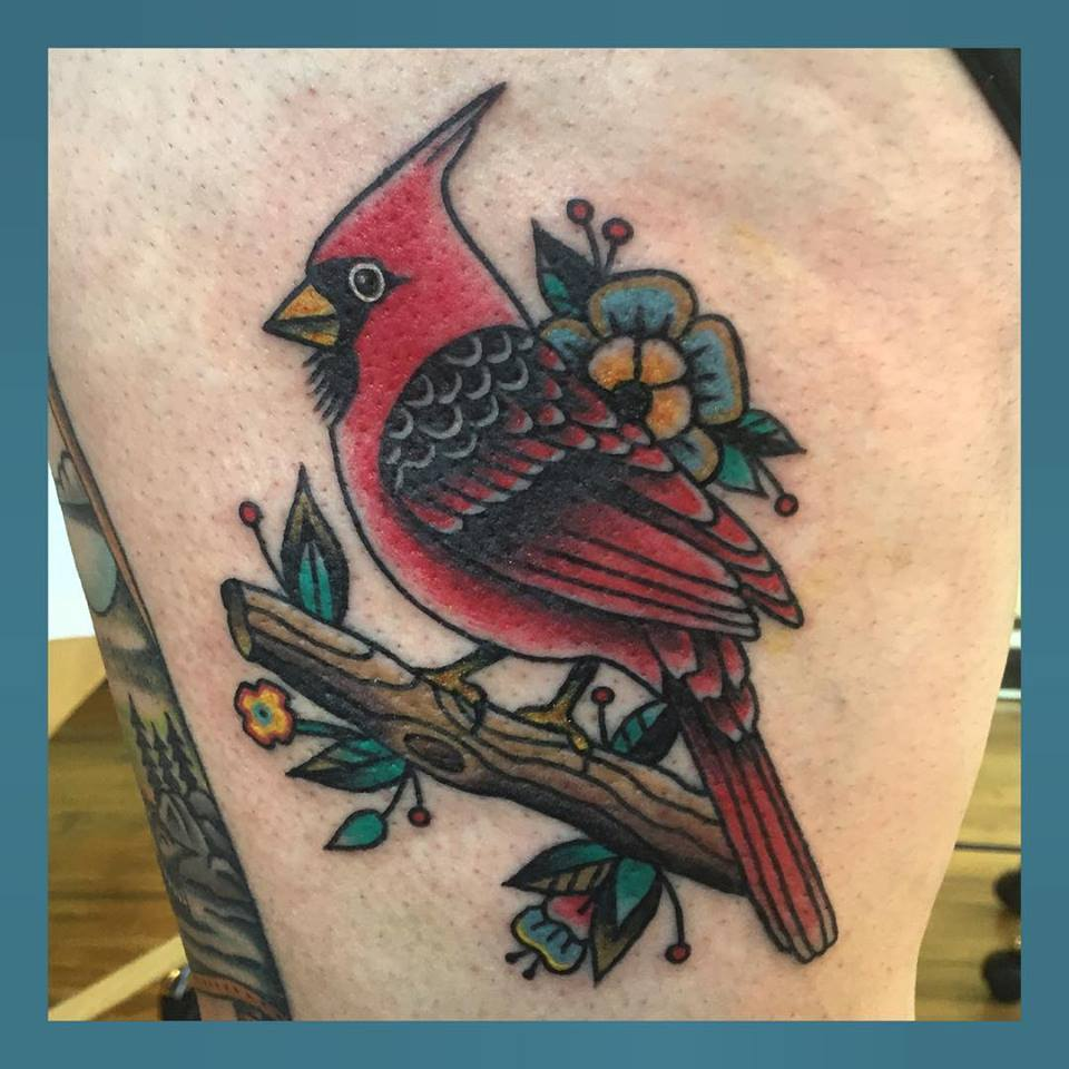 cardinal-bird-flowers-tree-tattoo-LA-LosAngeles-besttattoo-besttattooartist-besttattooartists-top-pictures-images-photo-tat-ink-inked-jennifertrok-guestartist-rabblerousertattoo
