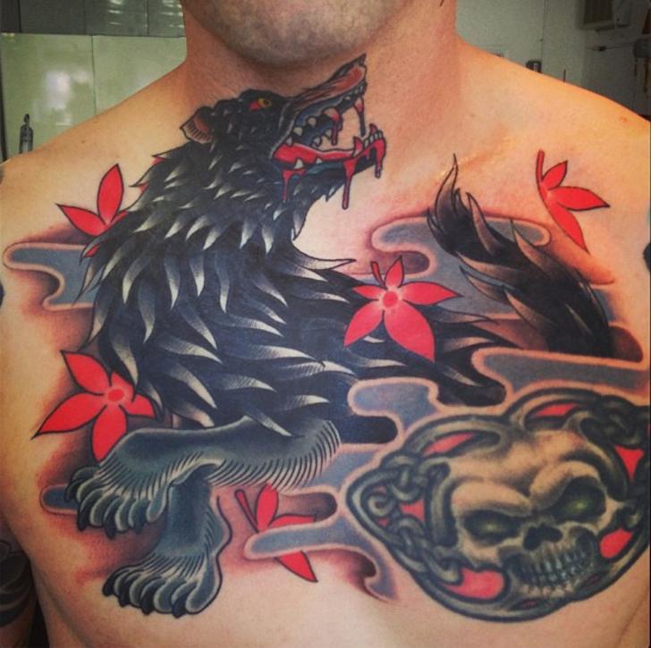 steve_delgado_wolf_skull_chest_tattoo_losangeles.jpg