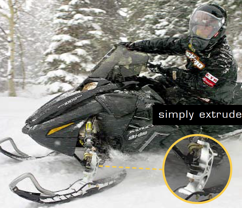 Snowmobile Ski Leg Support