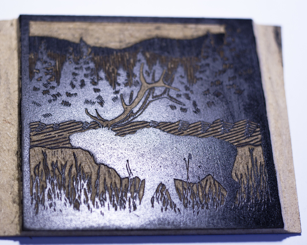 The Crown Woodblock