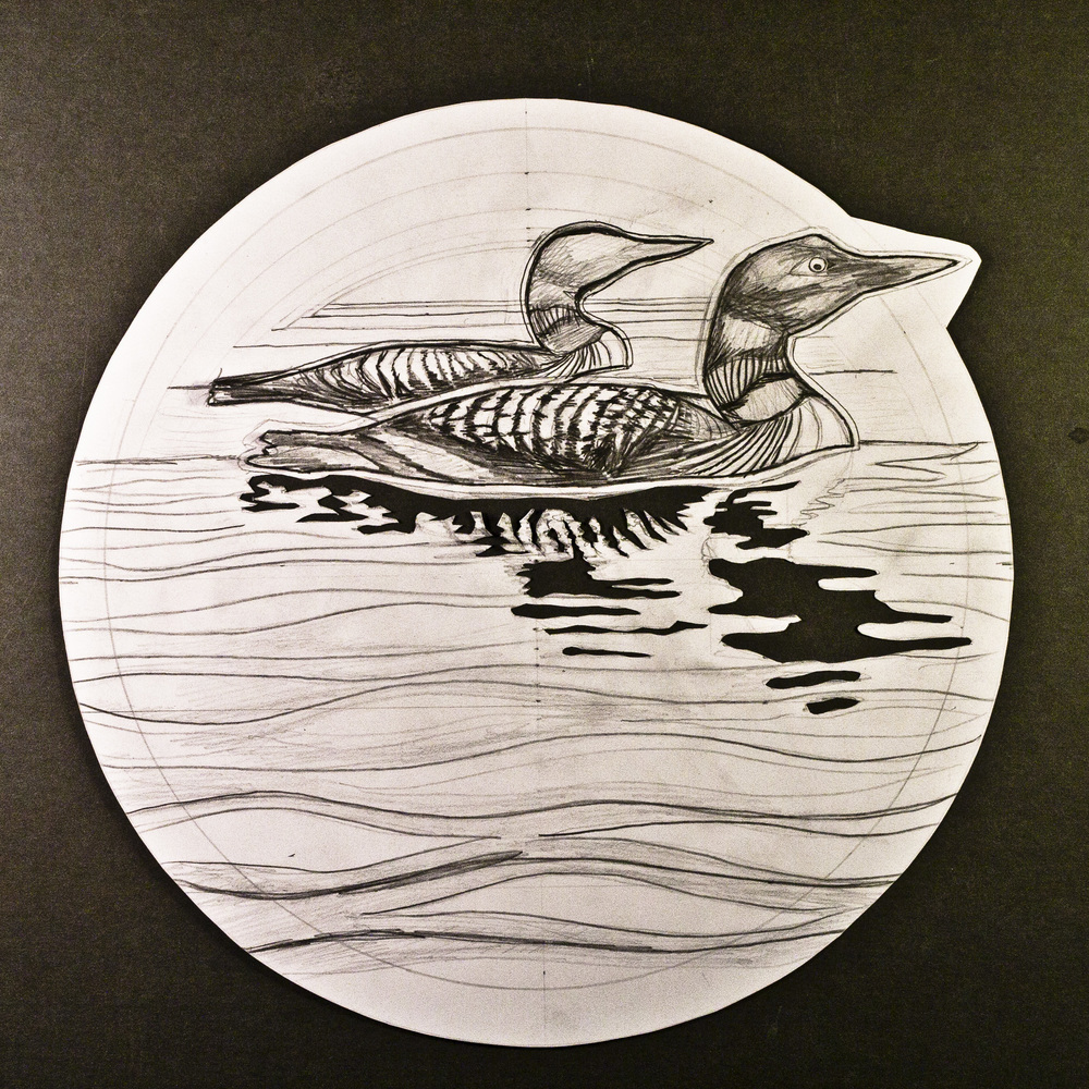 GreatNorthernLoon_Sketch_StanleyLeonard
