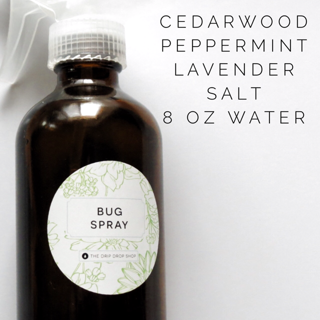 Essential Oil Bug Spray Label