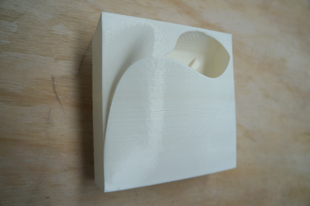 We currently have 4 different face designs  They are 145mm x 145mm x 50mm and can be made on small 3D printers such as Makerbot