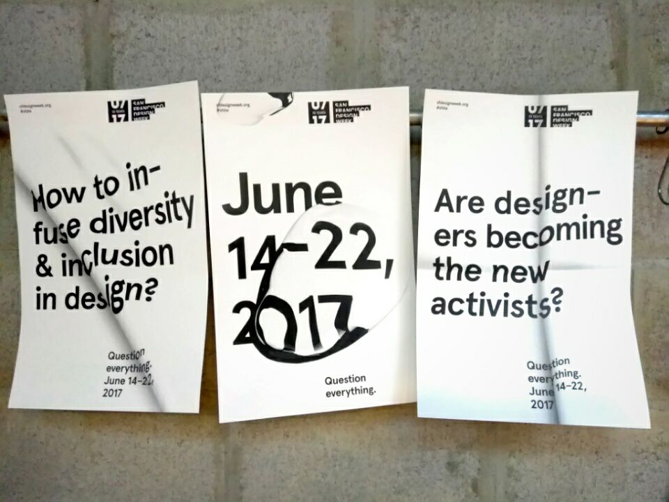 Poster series for 2017 San Francisco Design Week (Image Credit:  Owen Geronimo , via  SFDW Facebook )