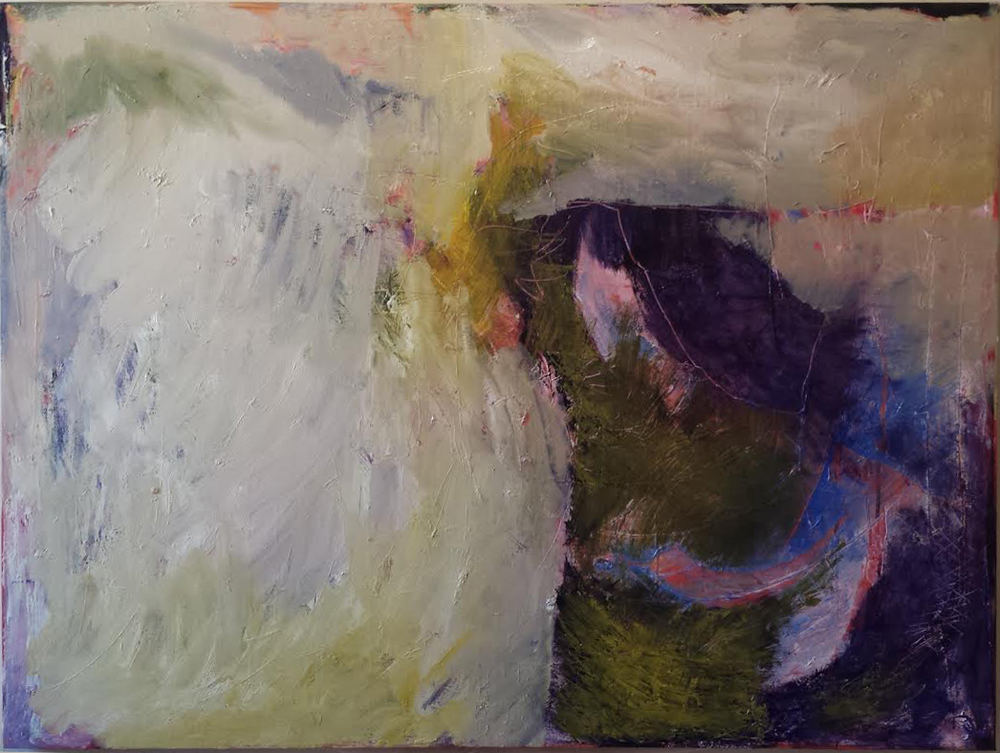 """Abstract August"", 2015, Oil on Canvas, 42""x56"" (rotatable)"