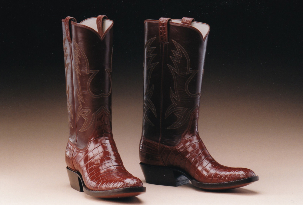 Crocodile and Calf Leather Boots