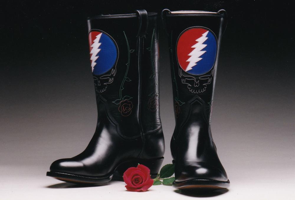 Grateful Dead Emblem Custom Boots
