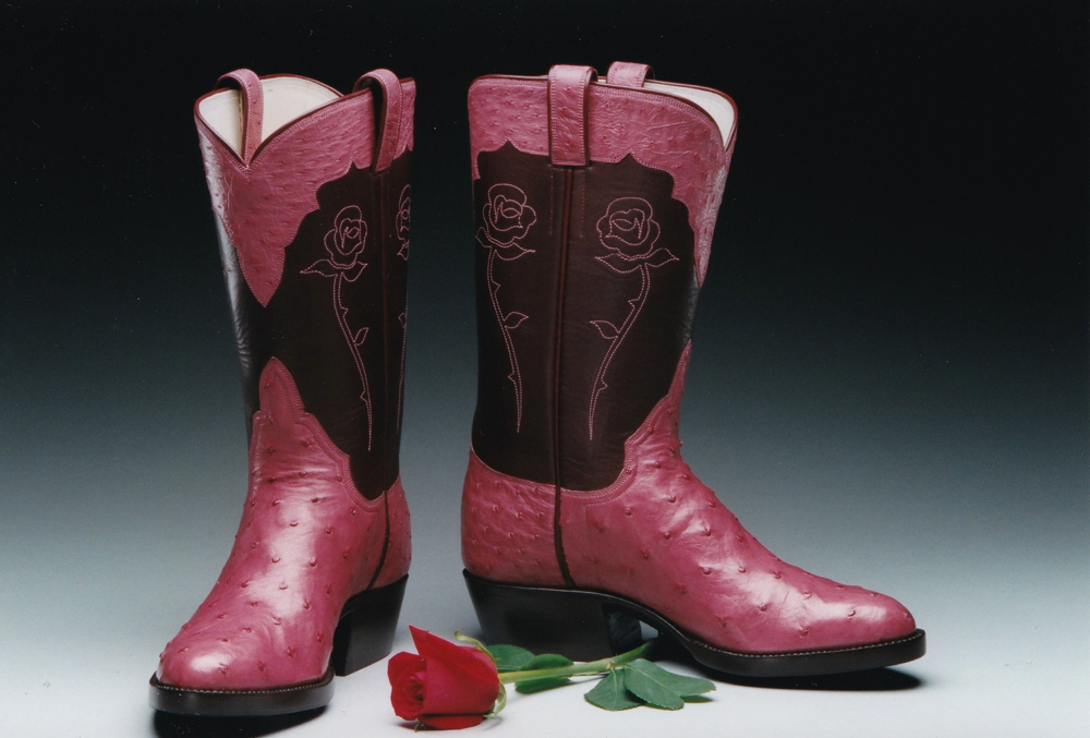 Texas Rose with Ostrich Leather