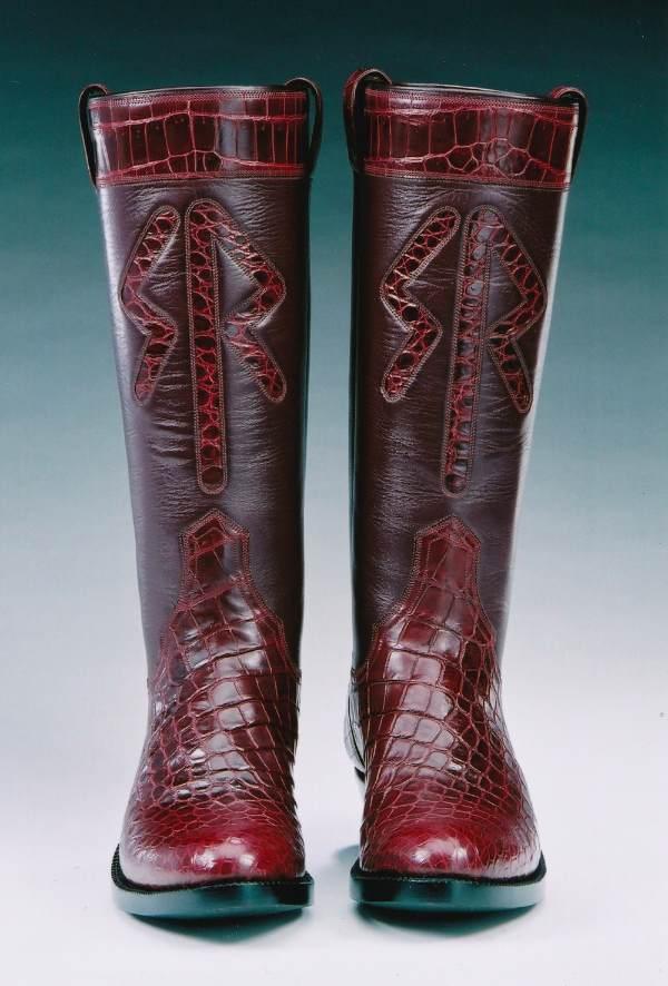 Crocodile Leather Custom Boots