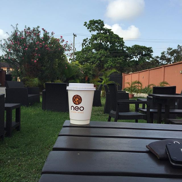 Sunday morning bliss @mycafeneo. No generator noise!!!
