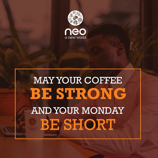 Start your week on the coffee side of life. #mycafeneo #coffeemonday #ismellcoffee
