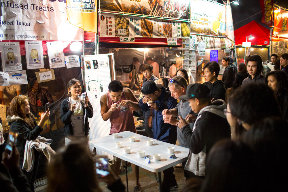 OC Night Market attendees browse an array of over 200 vendors. | Photo by Joey Luu